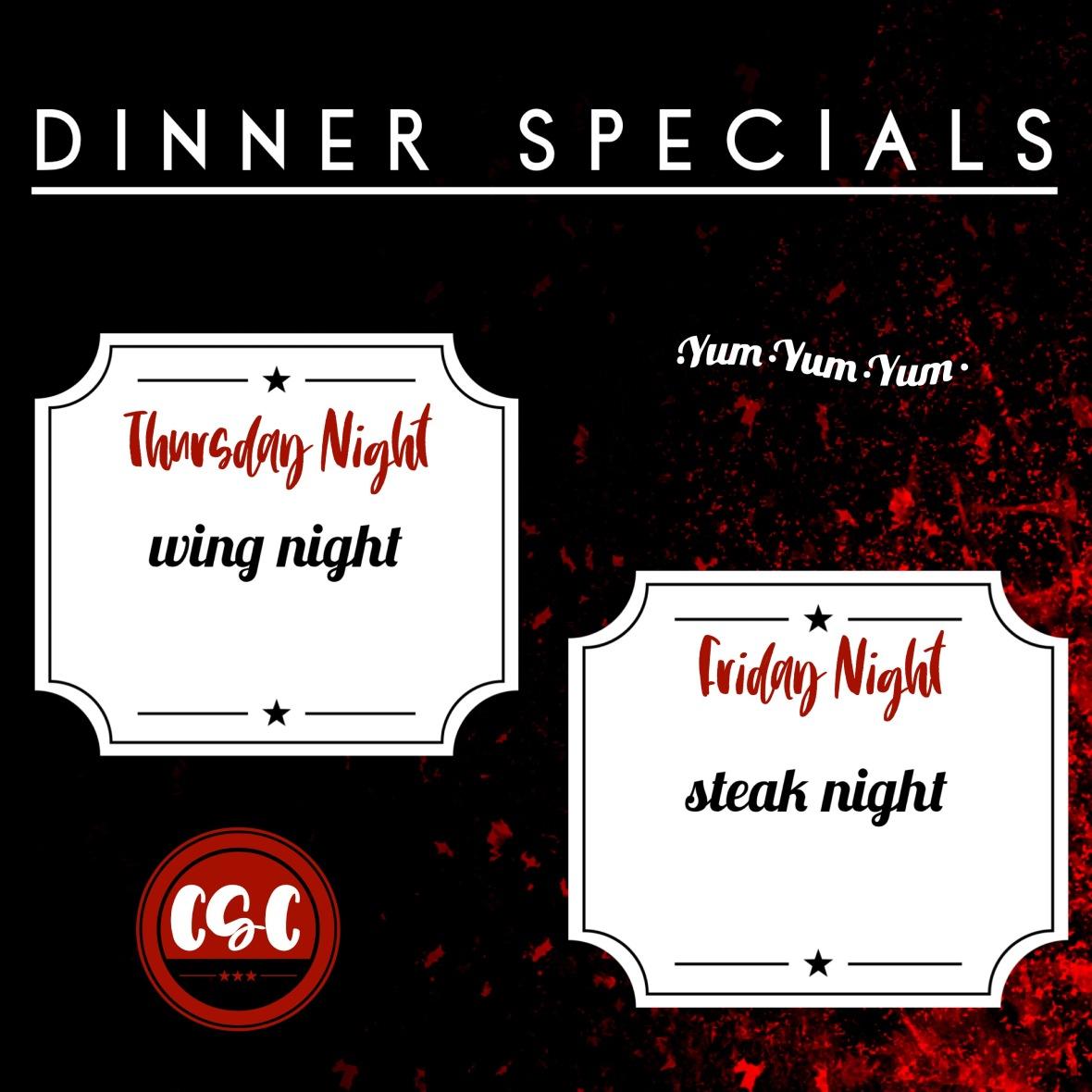 dinner specials june 3