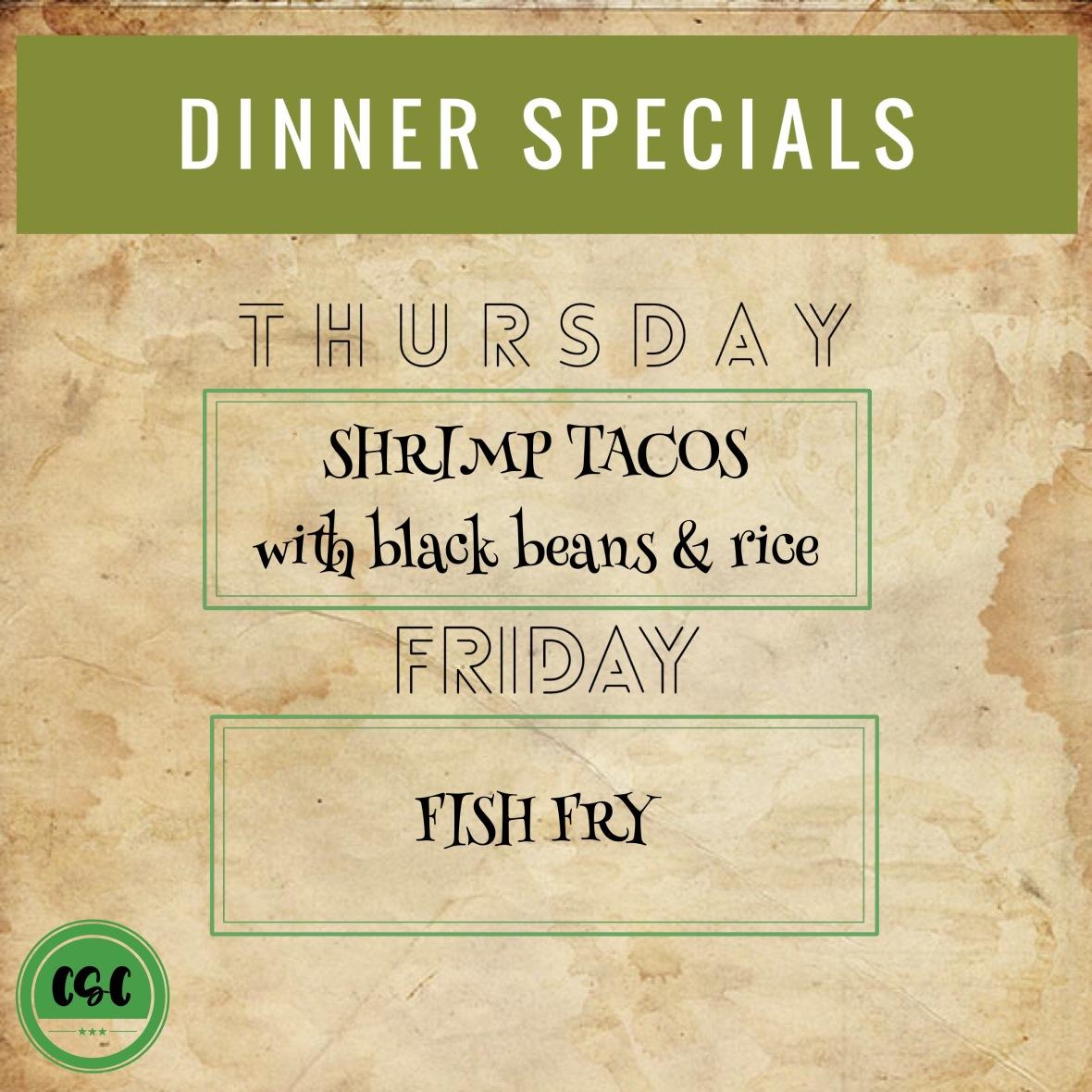 dinner specials nov 3