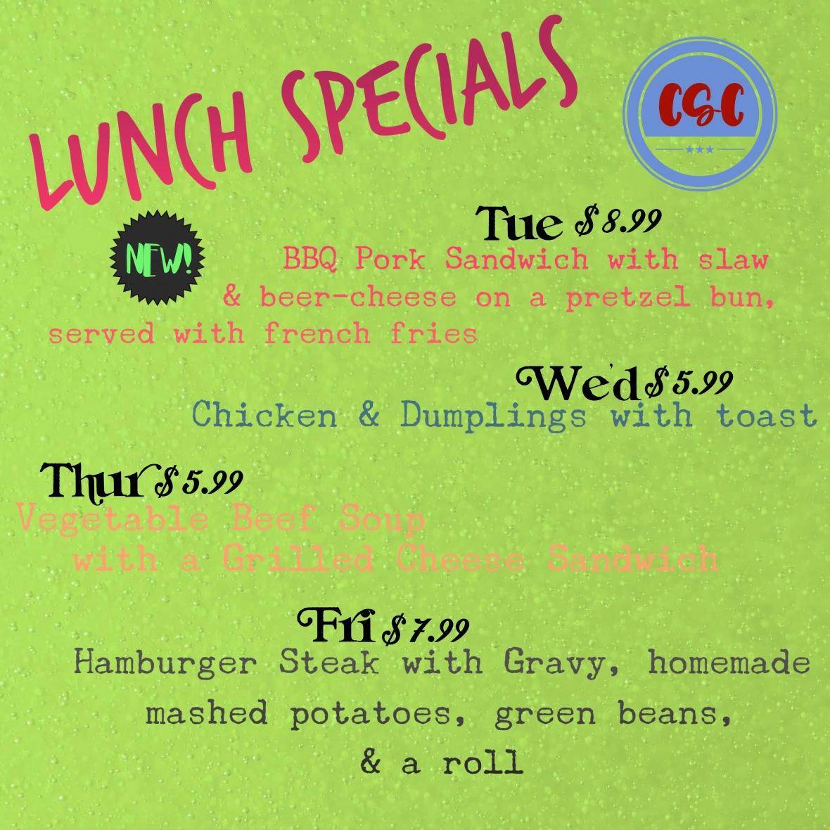 lunch specials jan 3