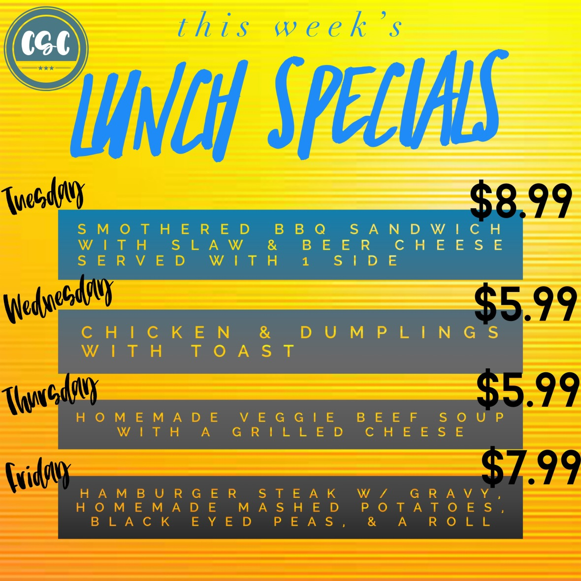 lunch specials feb 2