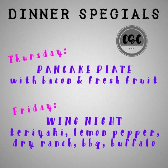 dinner specials april 4