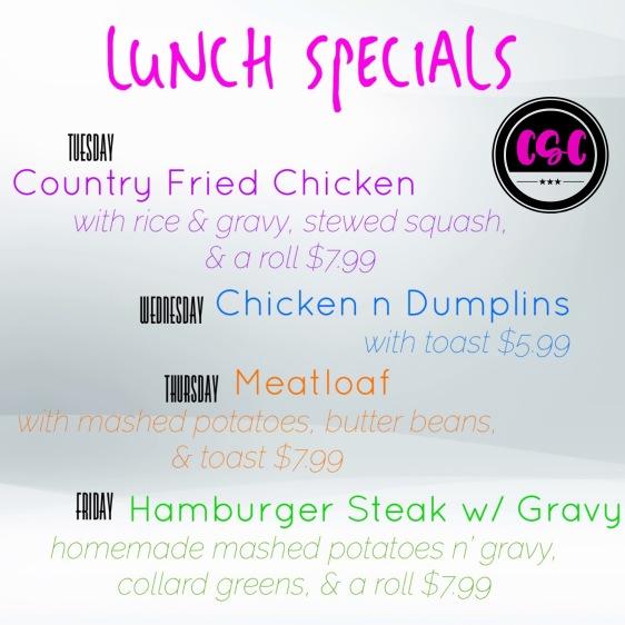 lunch specials april 4