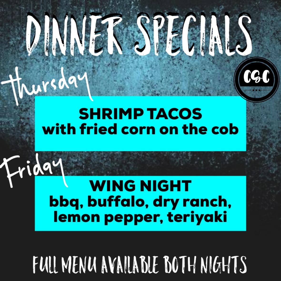 dinner specials may 2