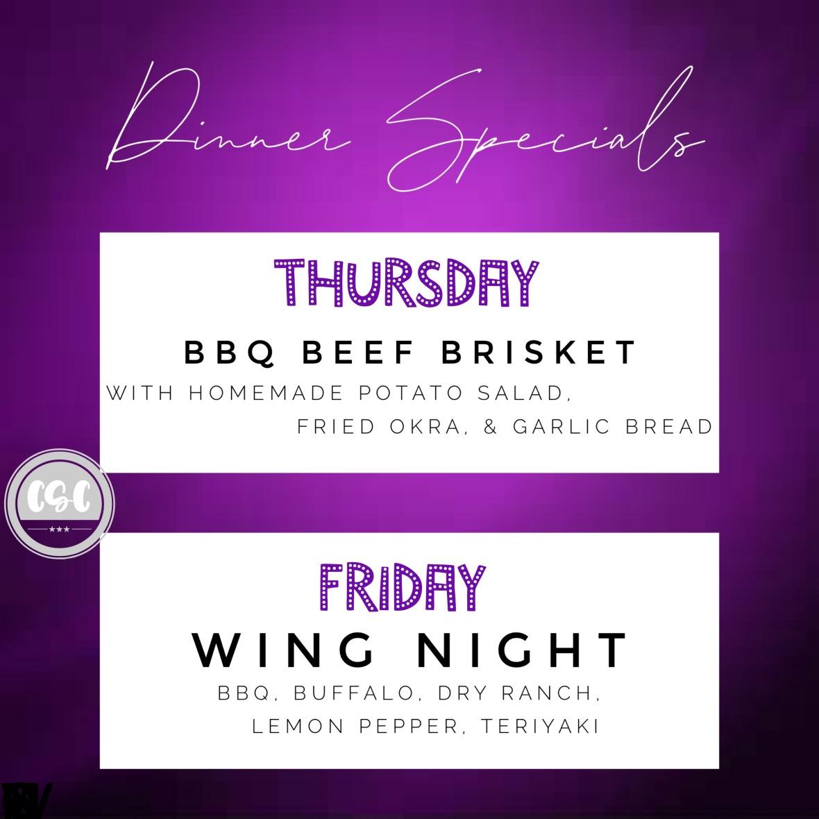 dinner specials july 3