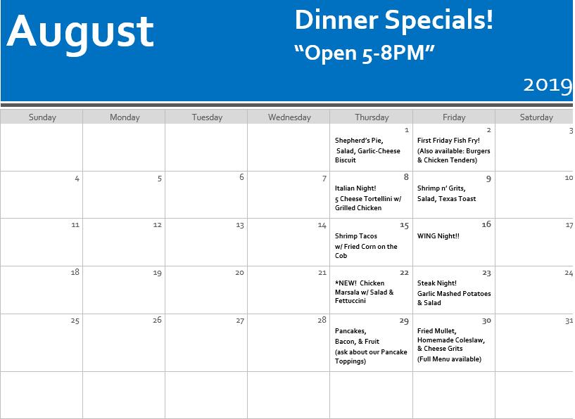 August Dinner