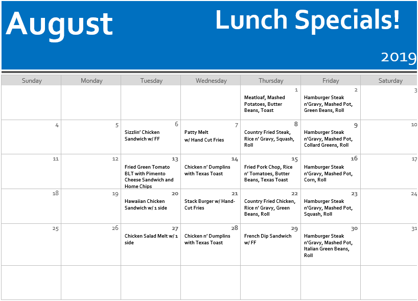 August Lunch